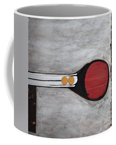 Sets Coffee Mug featuring the painting 4 Perplex 3 by Marlene Burns