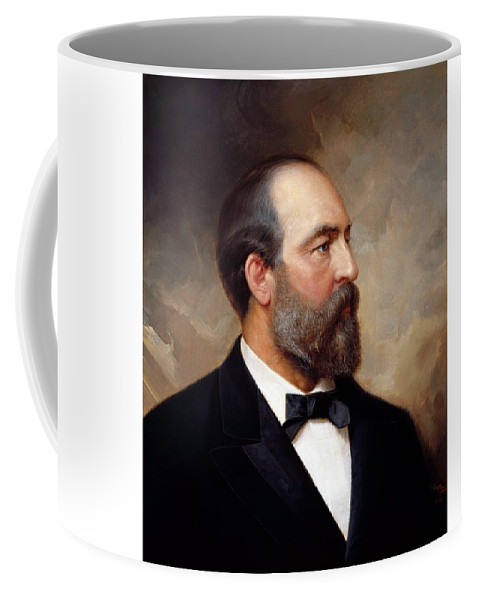 James Garfield Coffee Mug featuring the painting President James Garfield Painting by War Is Hell Store