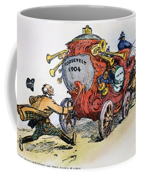 1902 Coffee Mug featuring the photograph Presidential Campaign 1904 by Granger