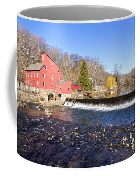Mill Coffee Mug featuring the photograph Red Mill by Paul Fell