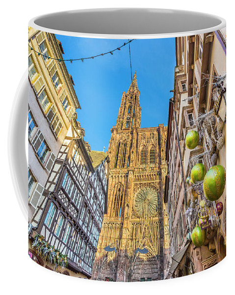 Alsace Coffee Mug featuring the photograph Strasbourg,christmas Market, Alsace France by Marco Arduino