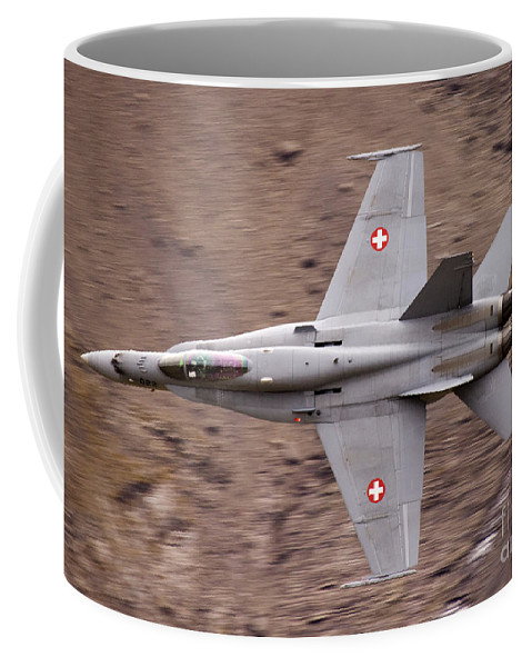 Axalp Coffee Mug featuring the photograph Superhornet by Angel Ciesniarska