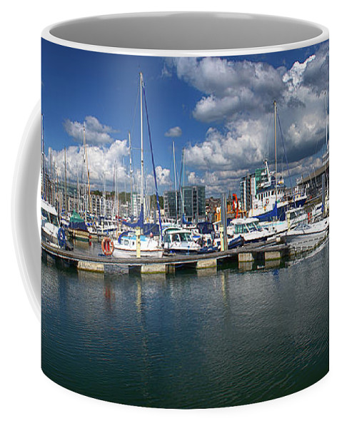 Plymouth Coffee Mug featuring the photograph Sutton Harbour Plymouth by Chris Day