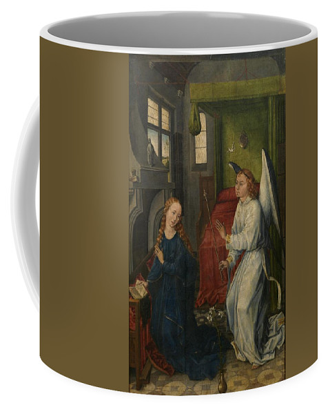 The Annunciation Coffee Mug featuring the painting the Annunciation by MotionAge Designs