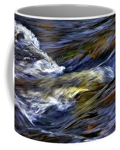 Water Coffee Mug featuring the photograph The Flow by Steve Harrington