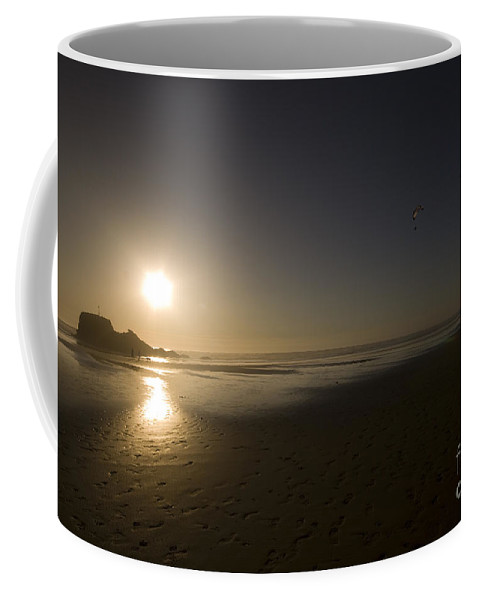 Cornwall Coffee Mug featuring the photograph The Flying Ones by Angel Ciesniarska