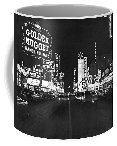 1950s Coffee Mug featuring the photograph The Las Vegas Strip by Underwood Archives