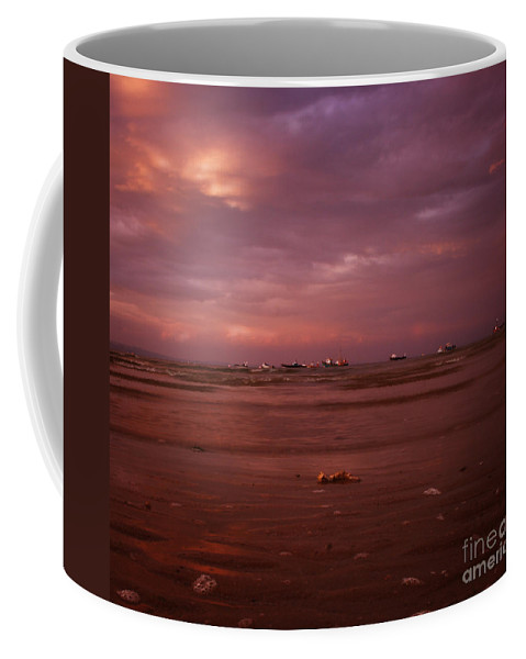 Sea Coffee Mug featuring the photograph The Low Tide by Angel Tarantella