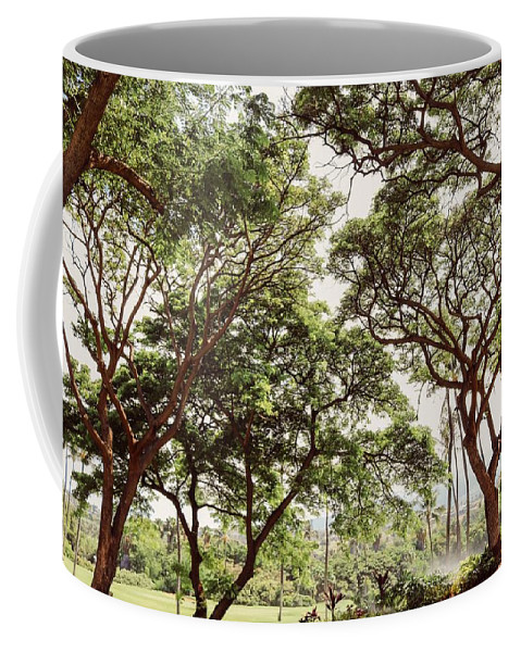 Non_city Coffee Mug featuring the photograph Trees by FL collection