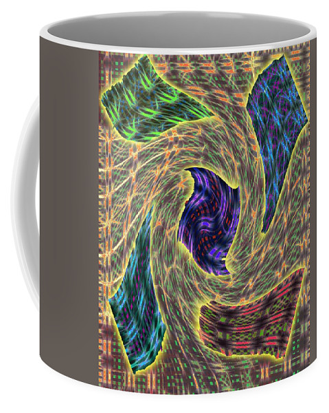 Abstract Coffee Mug featuring the digital art 4 U 118 by John Saunders
