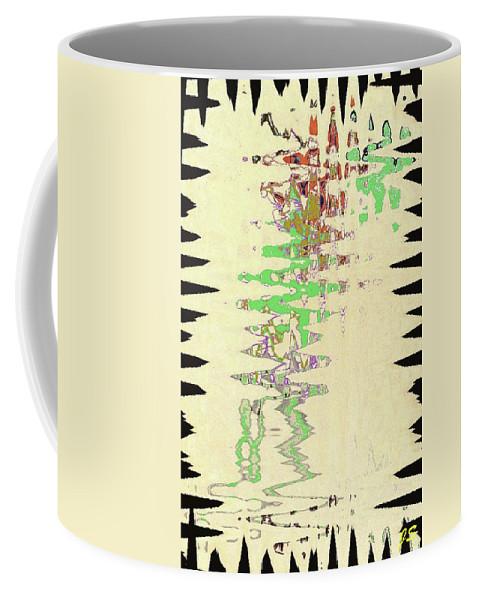 Abstract Coffee Mug featuring the digital art 4 U 245 by John Saunders