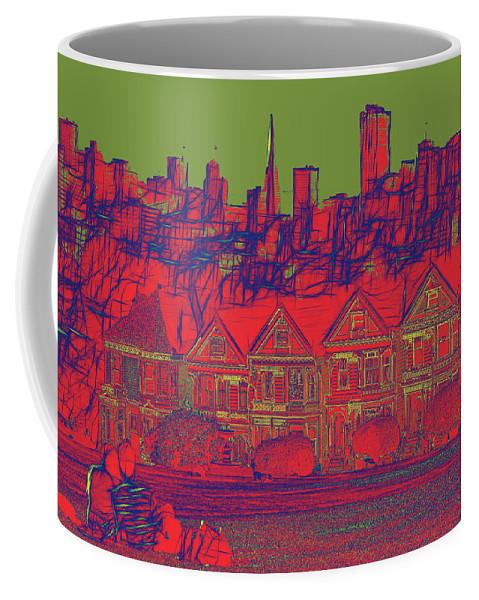 Abstract Coffee Mug featuring the digital art 4 U 286 by John Saunders