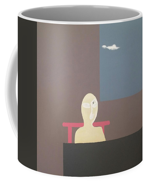 Coffee Mug featuring the painting Untitled by Lou Xiang