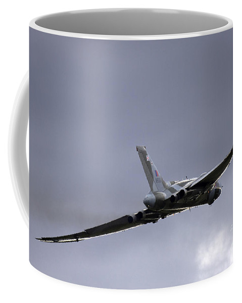 Avro Vulcan Coffee Mug featuring the photograph Vulcan To The Sky by Angel Tarantella
