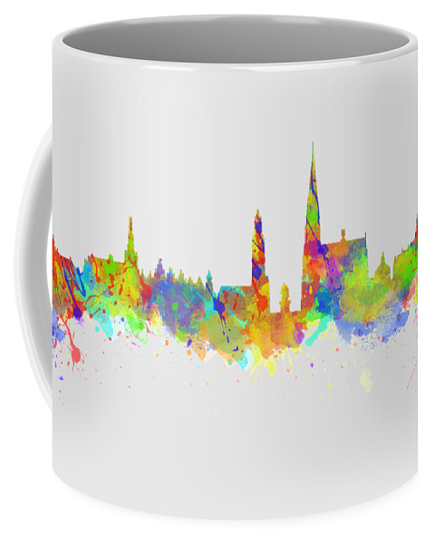 Antwerp Coffee Mug featuring the photograph Watercolor Art Print Of The Skyline Of Antwerp In Belgium by Chris Smith