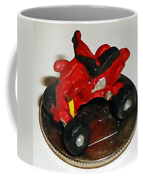 Pat Turner Coffee Mug featuring the photograph 4 Wheeling On A Dime by Pat Turner