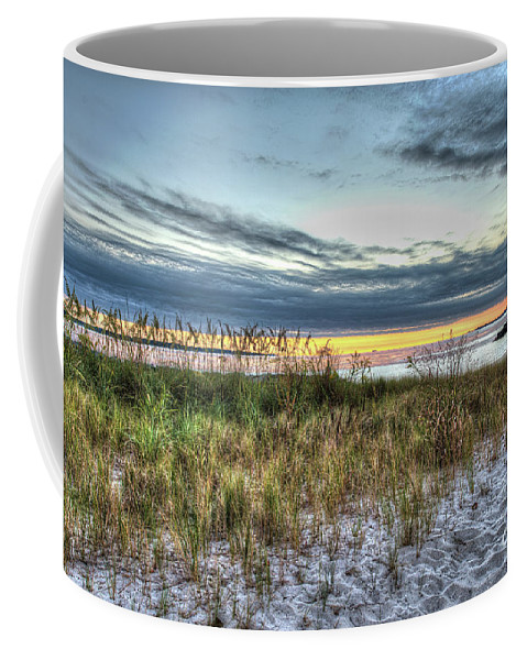 Yorktown Beach Coffee Mug featuring the photograph Yorktown Beach At Sunrise by Greg Hager