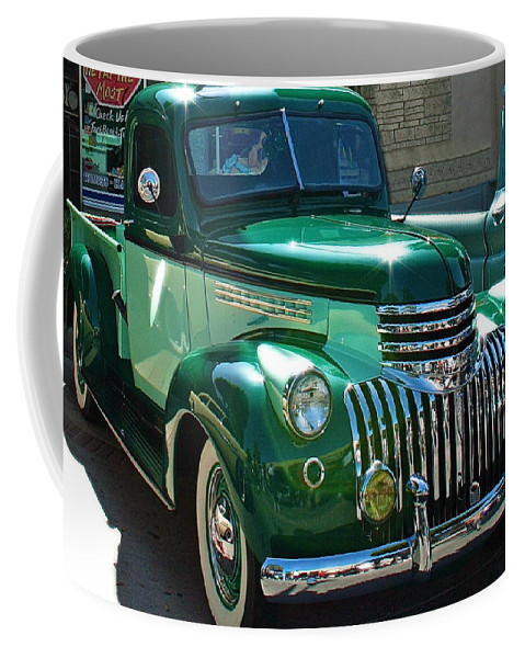 Photograph Of Classic Truck Coffee Mug featuring the photograph 41 Chevy Truck by Gwyn Newcombe