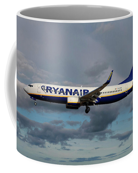 Ryanair Coffee Mug featuring the photograph Ryanair Boeing 737-8as by Smart Aviation
