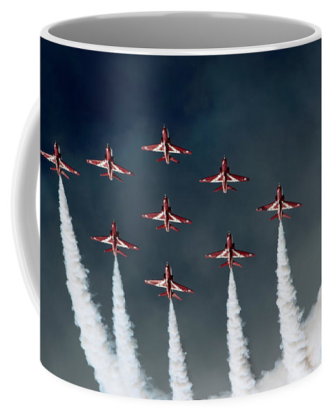Red Arrows Coffee Mug featuring the photograph Red Arrows by Angel Tarantella