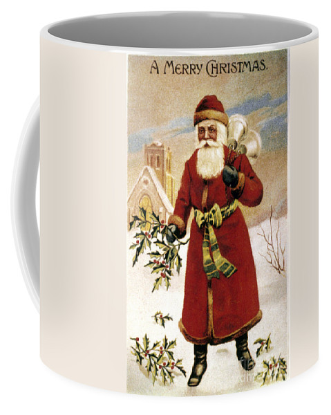 19th Century Coffee Mug featuring the photograph American Christmas Card by Granger