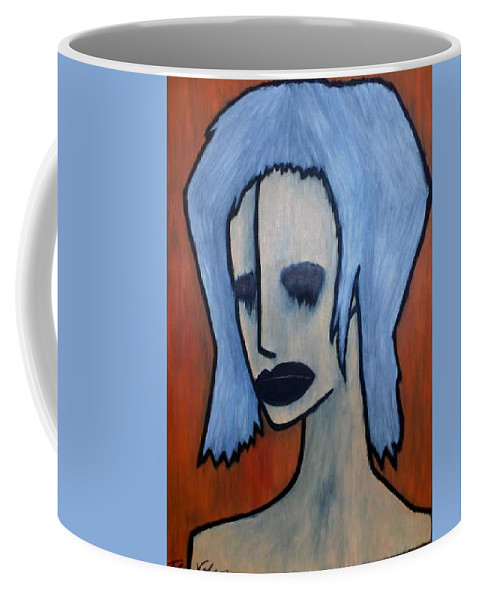 Potrait Coffee Mug featuring the painting Halloween by Thomas Valentine