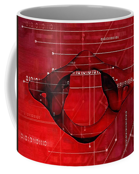 Chiropractic Coffee Mug featuring the digital art Atlas Anatomy Art by Joseph Ventura