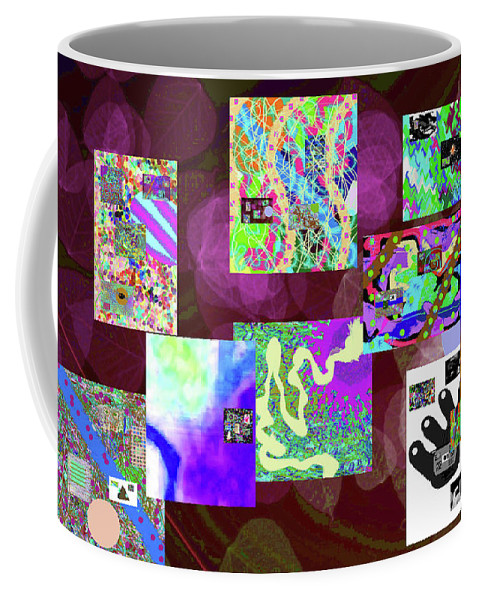 Walter Paul Bebirian Coffee Mug featuring the digital art 5-25-2015cabcdefghijk by Walter Paul Bebirian