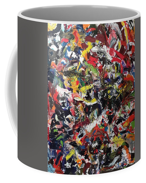 Rythem Coffee Mug featuring the painting Abstract by Bryan Fuller