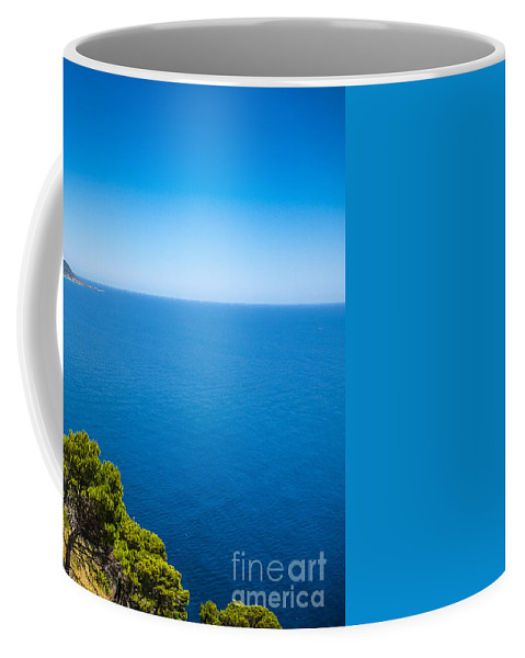 Castellabate Coffee Mug featuring the photograph Deep Blue Sea And Golden Beaches by JR Photography