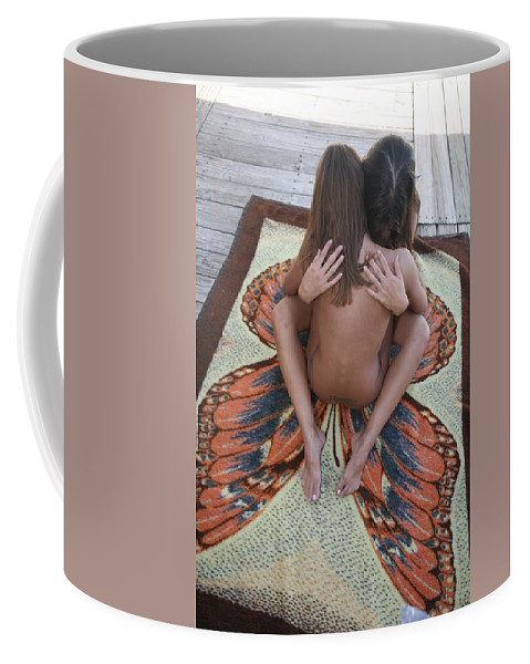 Female Nude Butterfly Glamorous Natural Settings Exotic Nudes Coffee Mug featuring the photograph Butterfly by Lucky Cole