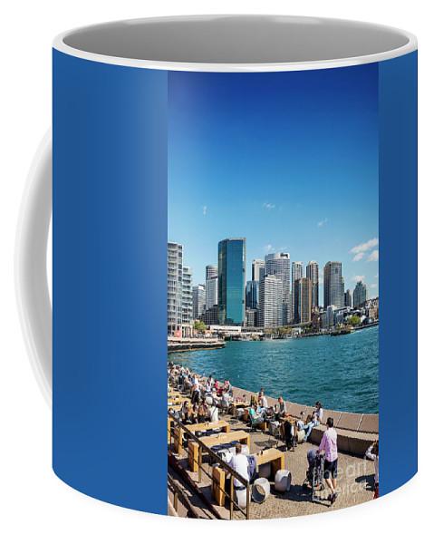 Architecture Coffee Mug featuring the photograph central sydney CBD area skyline and circular quay in australia by Jacek Malipan