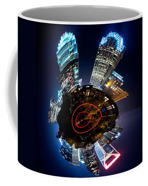 Digital Coffee Mug featuring the photograph Charlotte Skyline Mini Planet by Alex Grichenko