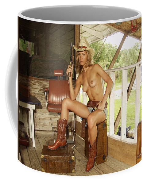 Lucky Cole Everglades Photographer Coffee Mug featuring the photograph Everglades Cowgirl by Lucky Cole