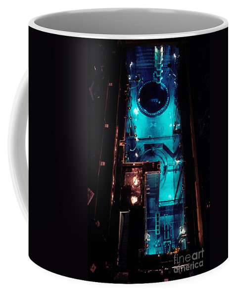 Science Coffee Mug featuring the photograph Flamanville Nuclear Power Plant by Catherine Pouedras