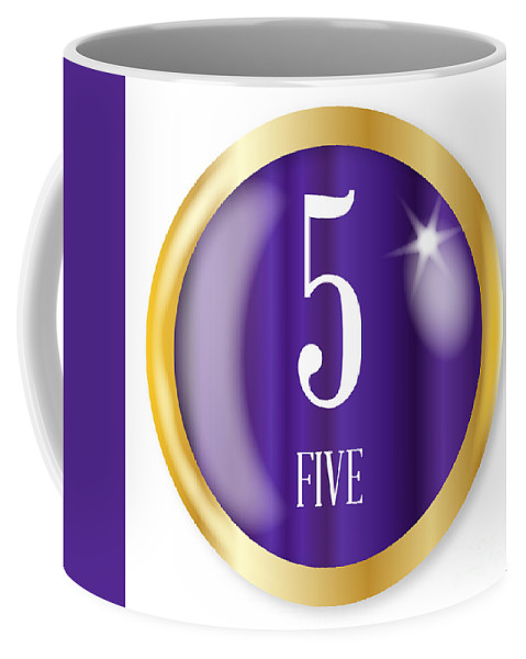 Five Coffee Mug featuring the digital art 5 For Five by Bigalbaloo Stock