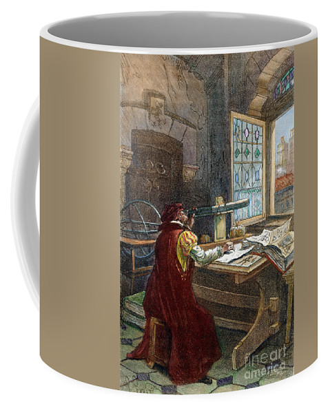 16th Century Coffee Mug featuring the drawing Galileo Galilei, 1564-1642 by Granger