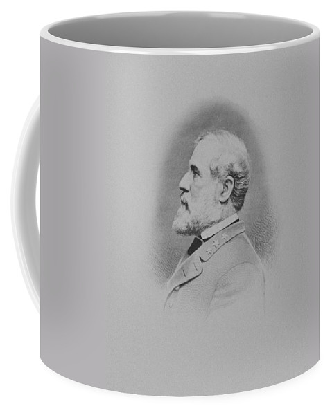 General Lee Coffee Mug featuring the mixed media General Robert E Lee by War Is Hell Store