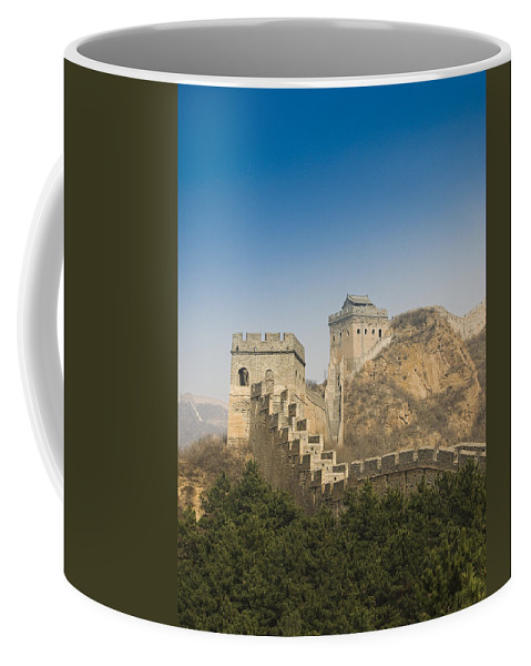 Ancient Coffee Mug featuring the photograph Great Wall Of China - Jinshanling by Gloria & Richard Maschmeyer - Printscapes