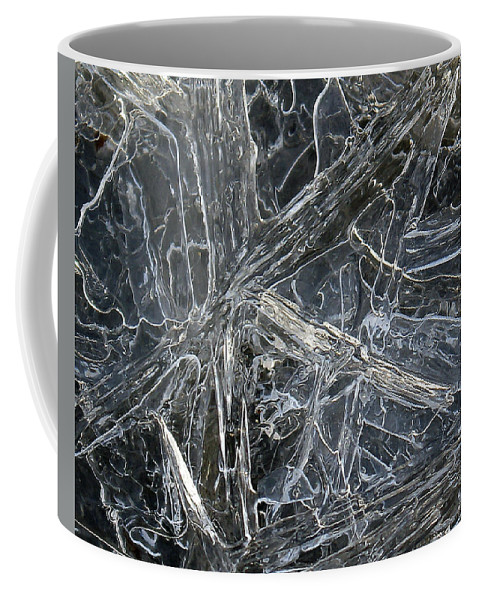 Coffee Mug featuring the photograph 5. Ice Pattern 4, Corbridge by Iain Duncan
