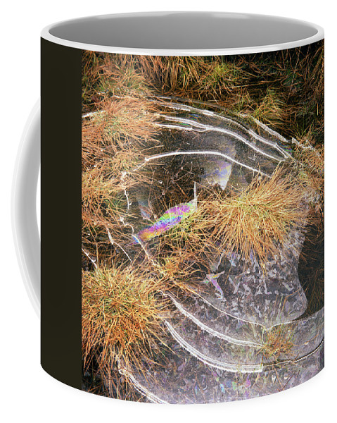 Coffee Mug featuring the photograph 5. Ice Prismatics In Grass 2, Loch Tulla by Iain Duncan