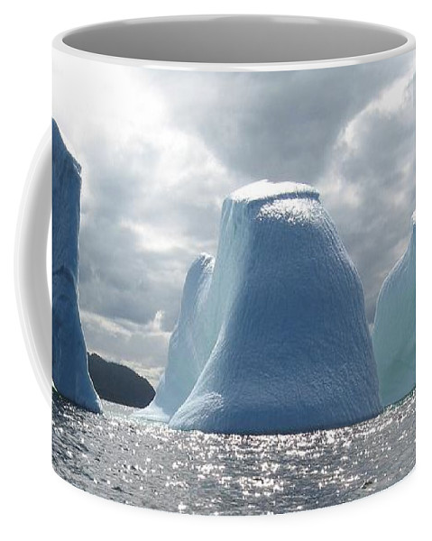 Iceberg Photograph Ice Water Ocean Altantic Newfoundland Summer Coffee Mug featuring the photograph Iceberg by Seon-Jeong Kim
