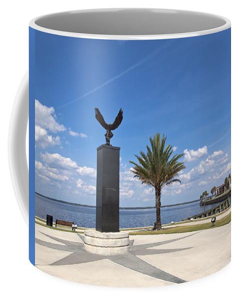 Veterans Coffee Mug featuring the photograph Lake Monroe At The Port Of Sanford Florida by Allan Hughes