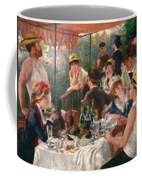 Luncheon Of The Boating Party Coffee Mug featuring the painting Luncheon Of The Boating Party by Pierre-Auguste Renoir
