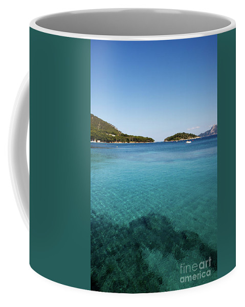 Mediterranean Coffee Mug featuring the pyrography Mediterranean Seascape by Claudio Filacchioni