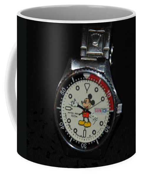 Mickey Mouse Coffee Mug featuring the photograph Mickey Mouse Watch by Rob Hans