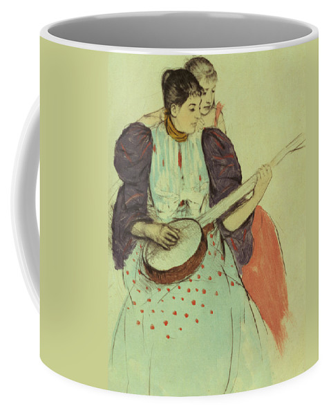 Banjo Coffee Mug featuring the painting Mother And Child by Mary Stevenson Cassatt
