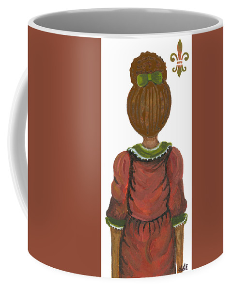 Coffee Mug featuring the painting Victoria by Sonja Griffin Evans