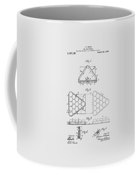 Pool Table Coffee Mug featuring the photograph Pool Table Triangle Patent From 1915 by Chris Smith