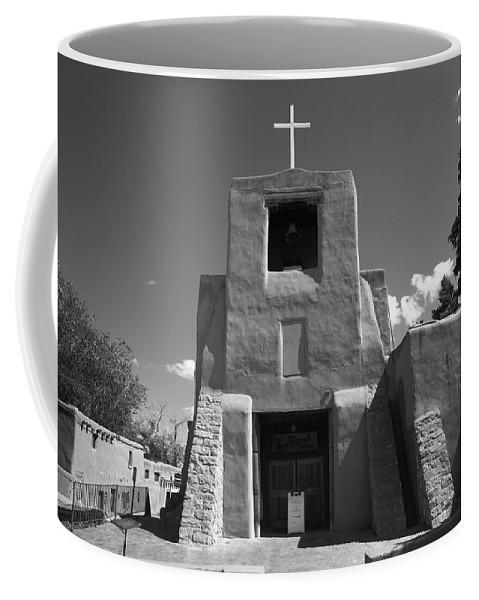 66 Coffee Mug featuring the photograph Santa Fe - San Miguel Chapel by Frank Romeo